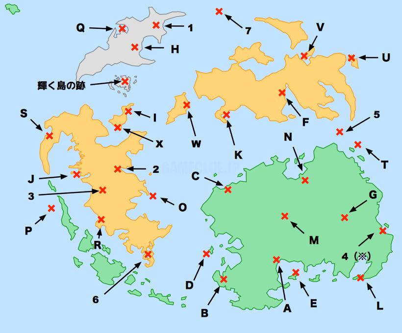 チョコグラフの地図